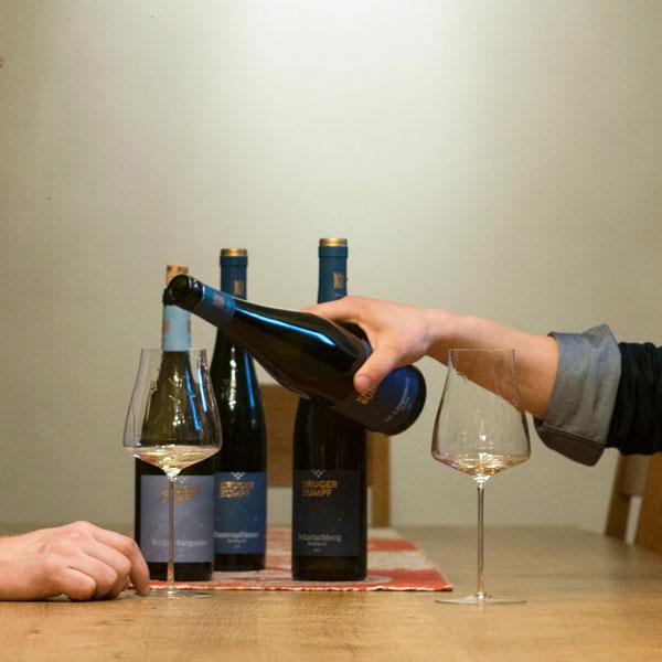 Weinprobe im Weingut möglich